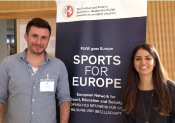 Kim Weidig en Fabienne Caiazza (Sports for Europe)