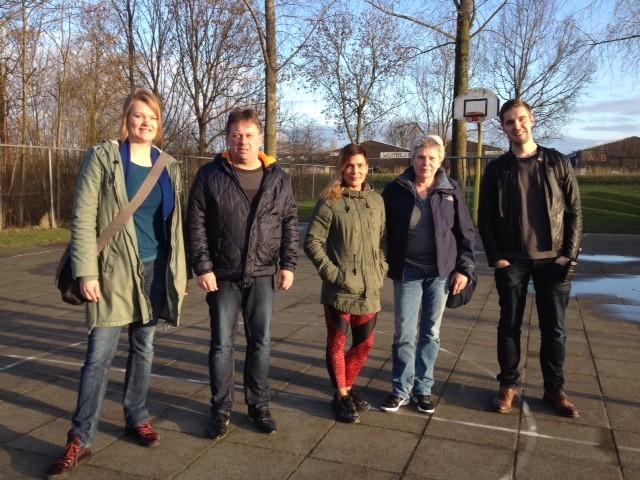 Vlnr: Sanne Bakker, Epko de Vries, Naomi Tuhehay, Jolanda Zuijderduin en Mathijs Geenhuizen.