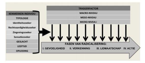 'triggerfactormodel van radicalisering' van Feddes