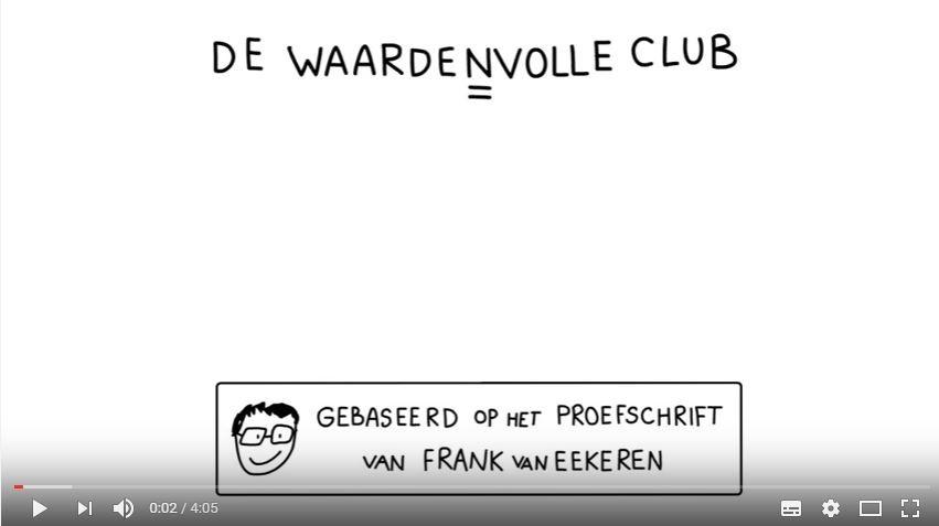 Animatiefilmpje over de Waardenvolle club